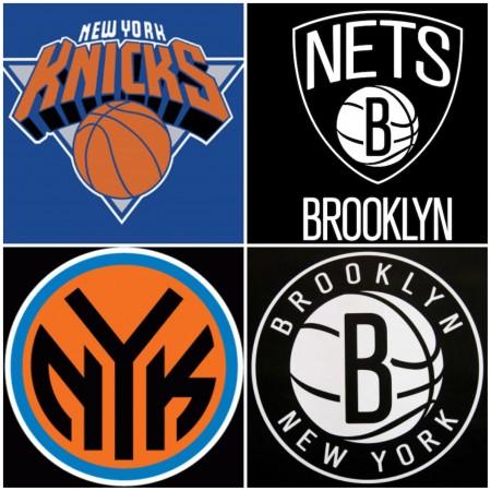 knicks & nets logos