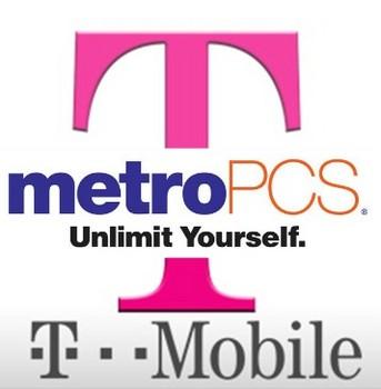 metro pcs & t-mobile logos meshed