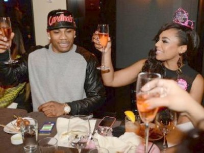Recording Artists Nelly and Ashanti during Ashantis