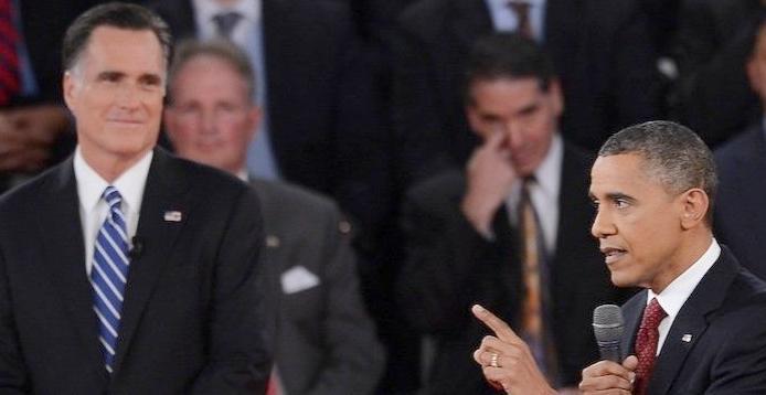 obama & romney (2nd debate)