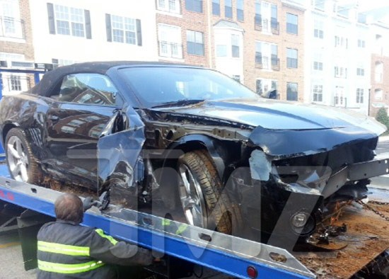 bobbi kristina's wrecked car