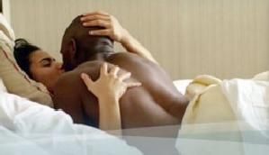 black couple making love