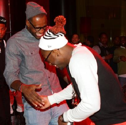 dwyane wade & lebron james at atl club