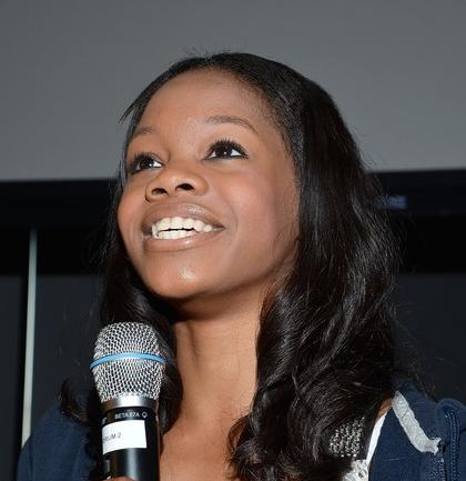 gabrielle douglas (with mic)