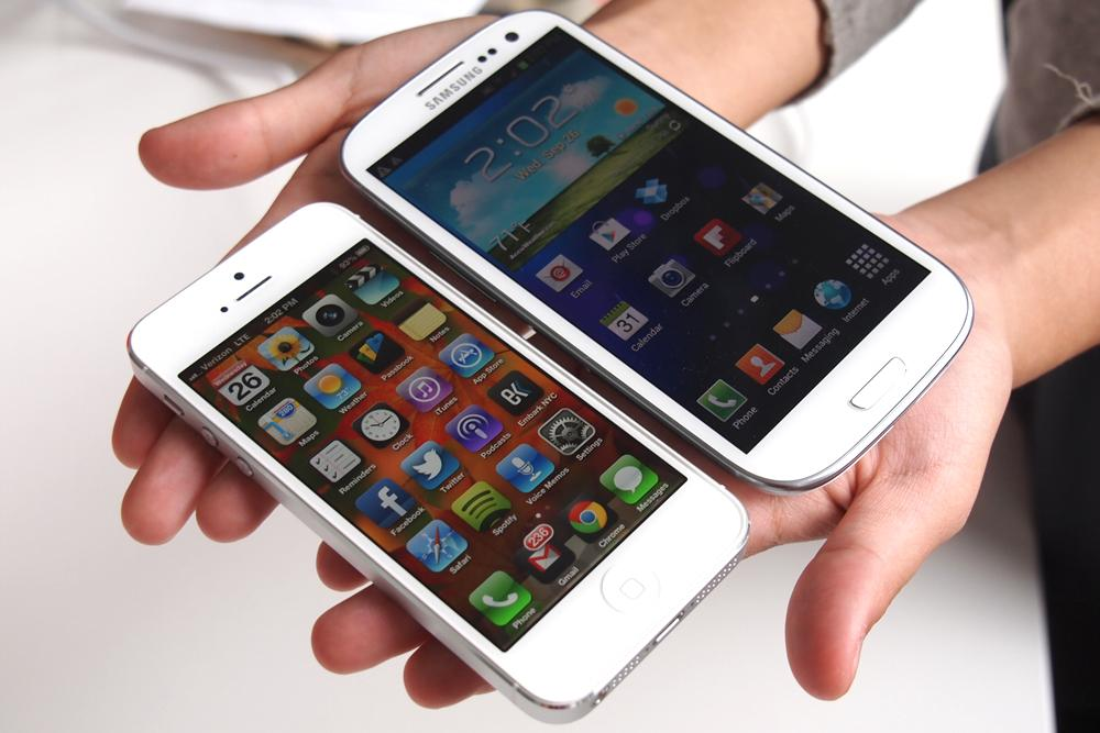 iphone & galaxy s 3