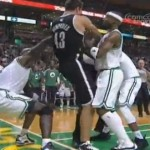 Fight Breaks Out Between Nets and Celtics, Humphries Tweets Injury (Video)