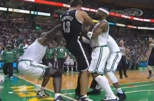 nets vs celtics fight