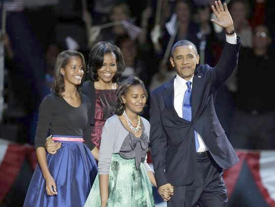 obama family (election night)