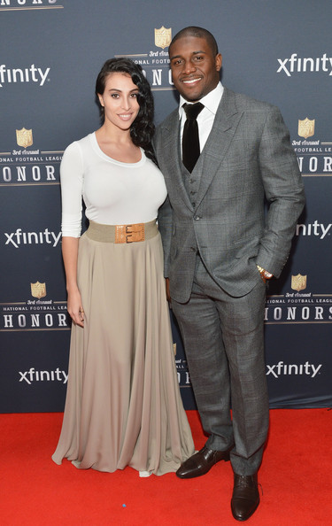 Detroit Lions running back Reggie Bush and guest attend the 3rd Annual NFL Honors at Radio City Music Hall on February 1, 2014 in New York City
