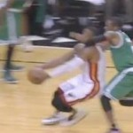 Celtics' Rajon Rondo Fouls Dwyane Wade on Court and LeBron off the Court (Video)