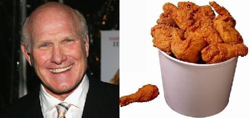 terry bradshaw & bucket of chicken