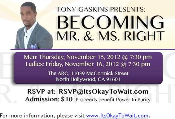 tony gaskins (becoming mrs right - poster)