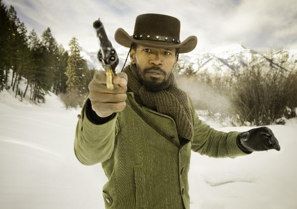 Jamie Foxx with gun, Django