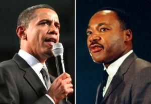 President Barack Obama and Martin Luther King.
