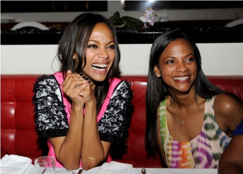 Zoe and Cicely Saldana