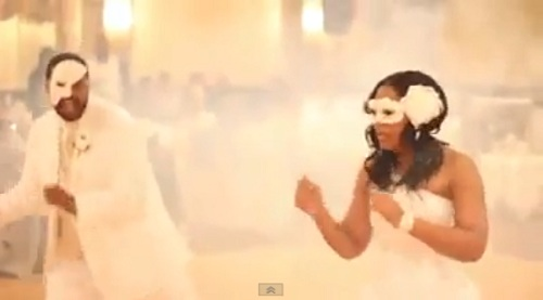 """Couple delivers a flawless dance performance at their reception to Missy Elliott's """"Lose Control"""" featuring Ciara and Fat Man Scoop."""