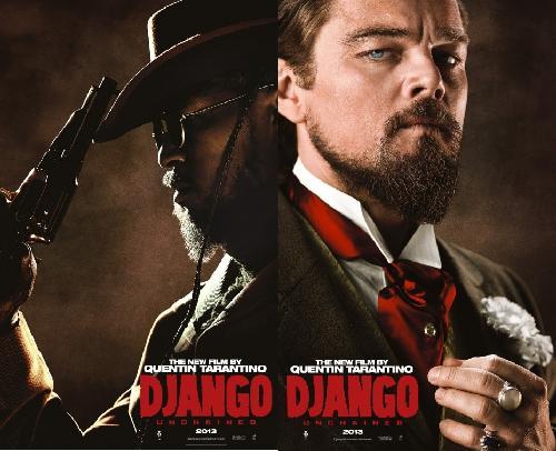 django unchained poster (foxx & dicaprio)