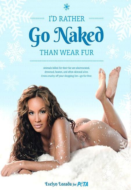 evelyn lozada naked for peta