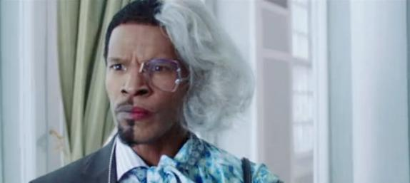 jamie foxx as tyler perry & madea & alex cross