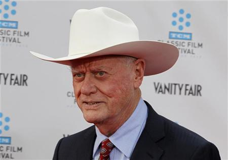"Cast member of the new TV series ""Dallas"" Larry Hagman arrives at the world premiere of the 40th anniversary restoration of the film ""Cabaret"" in Hollywood"
