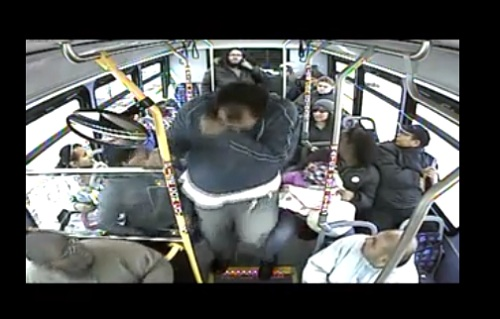 man pepper sprayed on bus