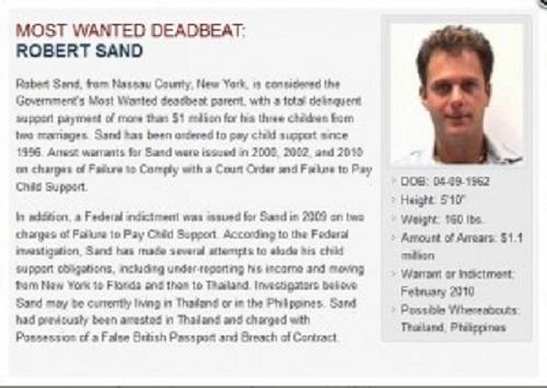 robert sand (child support offender)