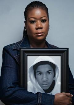 sybrina fulton & photo of trayvon martin