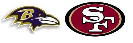49ers & ravens (logos)