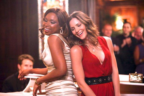 """SMASH -- """"On Broadway"""" Episode 201 -- Pictured: (l-r) Jennifer Hudson as Veronica Moore, Katharine McPhee as Karen Cartwright"""