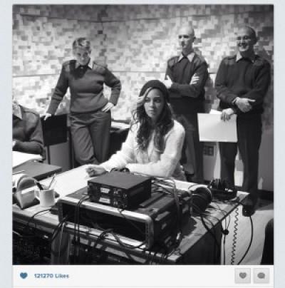 beyonce (marine band recording instagram)