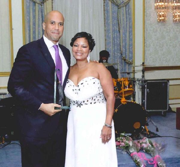 Newark, New Jersey Mayor Cory A. Booker & Doll League President Tijuana Johnson