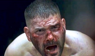 "Huck (Guillermo Diaz) is tortured in a scene from ABC's ""Scandal"""