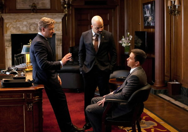 "Jeffrey Wright (center) stars in ""Broken City"" along with Russell Crowe and Mark Wahlberg."