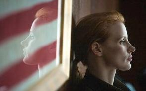 jessica chastain & flag