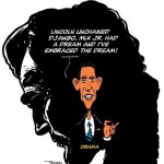 'From Lincoln to MLK to Obama – Inauguraton 2013′ by Illustrator TAYO Fatunla