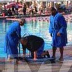 Ndamukong Suh Helps Rescue 'Splash' Co-Star from Pool