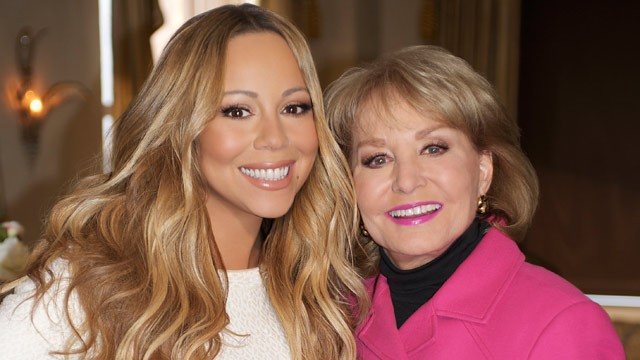 Mariah Carey and Barbara Walters