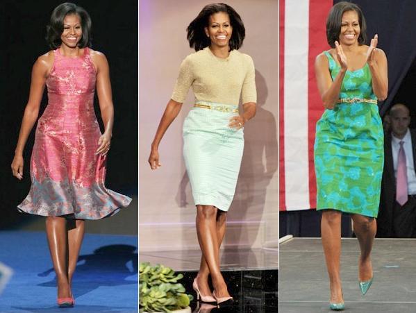 michelle obama (different fashion looks)
