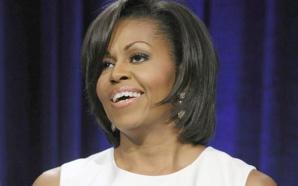michelle obama (white fab dress)