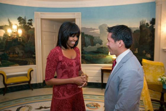 michelle obama (with bangs)