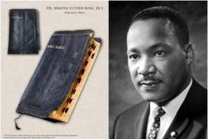 MLK Jr. and his bible