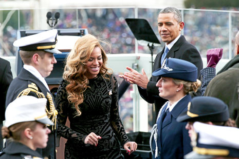 Beyonce at Obama swearing in ceremony