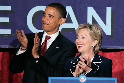 obama & (hillary) clinton