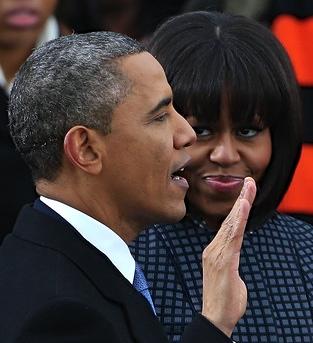 obamas swearing in