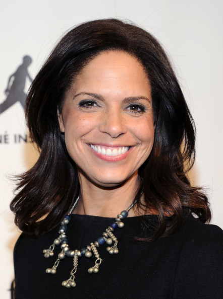"News anchor Soledad O'Brien attends the FIAF and Cine Institute of Haiti screening of ""Haiti Optimiste"" at Florence Gould Hall on January 24, 2013 in New York City"