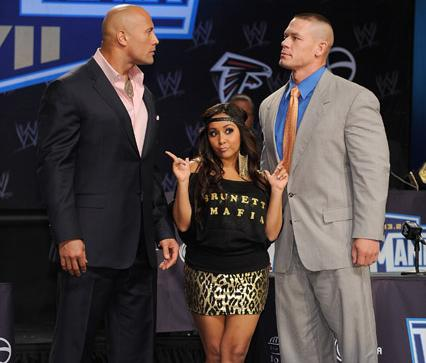 the rock snooki john cena