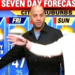 Allen Hughes Delivering Weather Forecast in Philly (Watch)