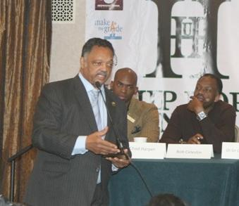Jesse Jackson speaks at Wall Street Project panel