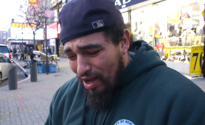 """Man in Harlem reacts to the """"new"""" Harlem Shake craze"""