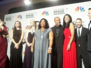 Cast of Scandal after NAACP Image Award win. (Photo credit: Eunice Moseley)